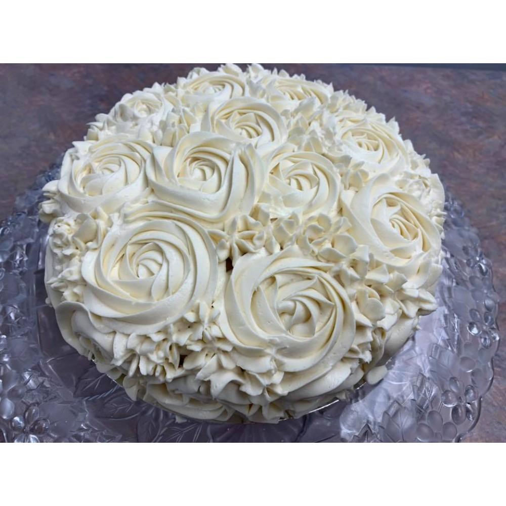 Custom Coconut Flour Birthday Cake
