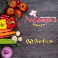MrsGrocery.com Gift Certificate