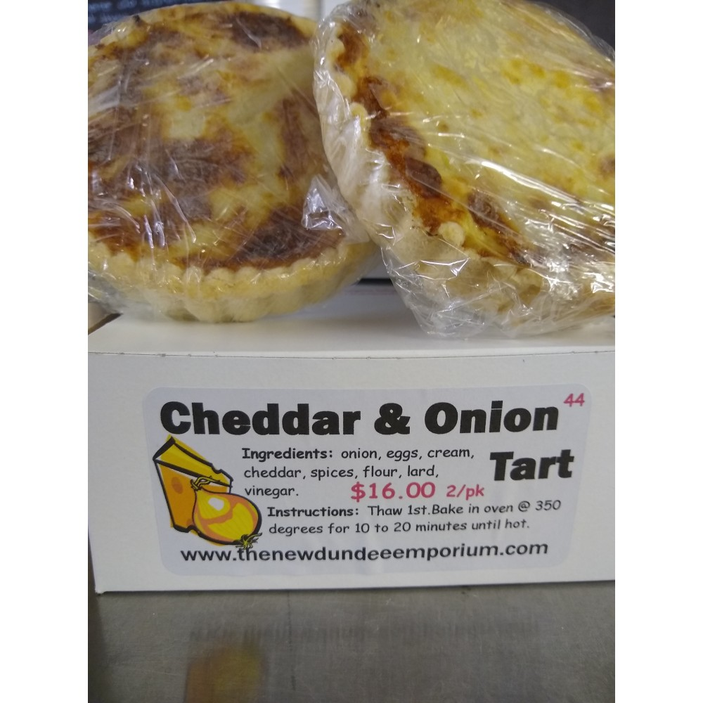 Cheddar and Onion Tart.