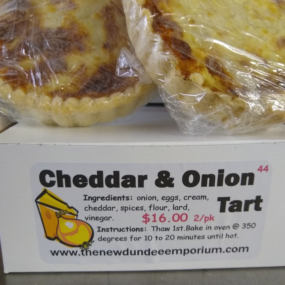 Cheddar and Onion Tart.