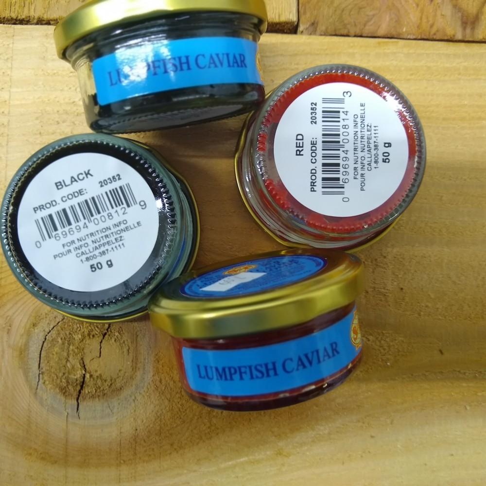 black or red lumpfish caviar