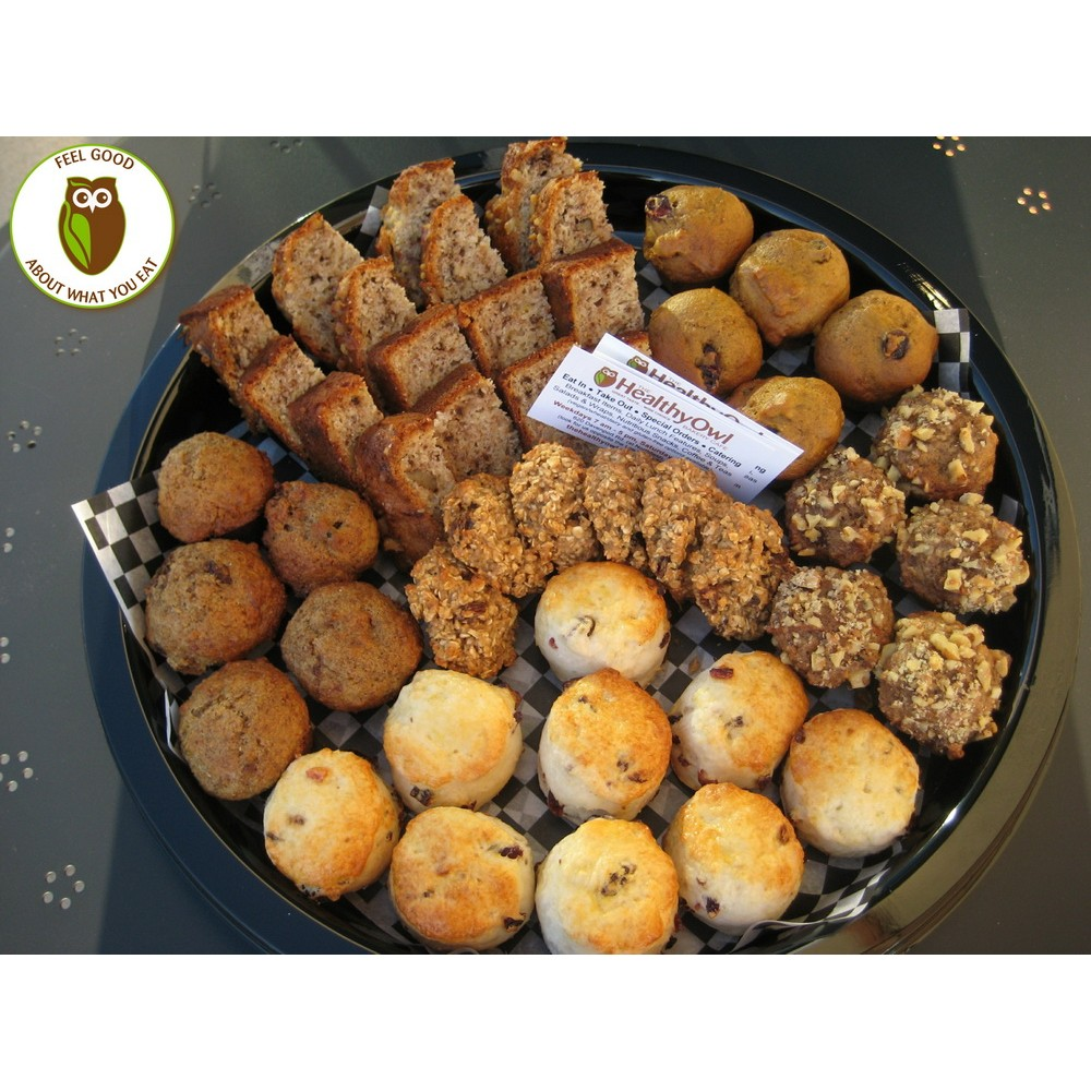 Healthy Owl Breakfast Baked Goods Tray