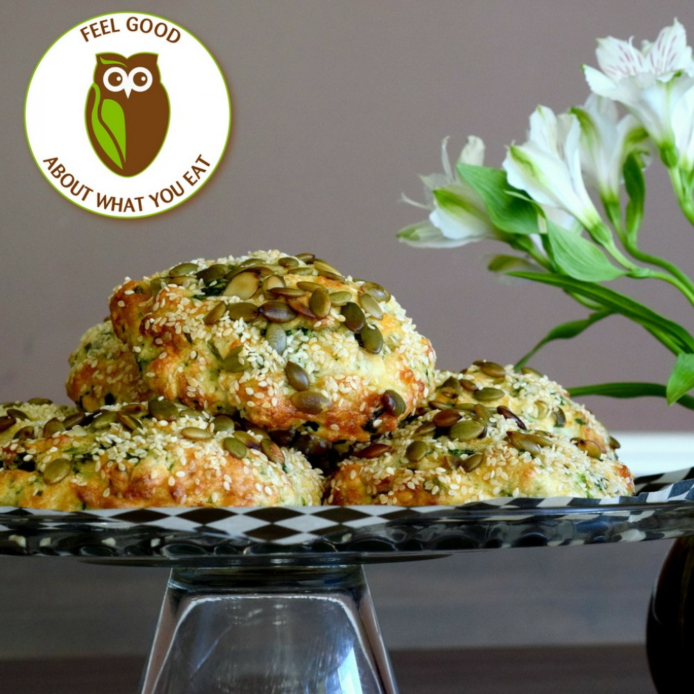 Healthy Owl Savoury Breakfast Scones - 1/2 dozen box