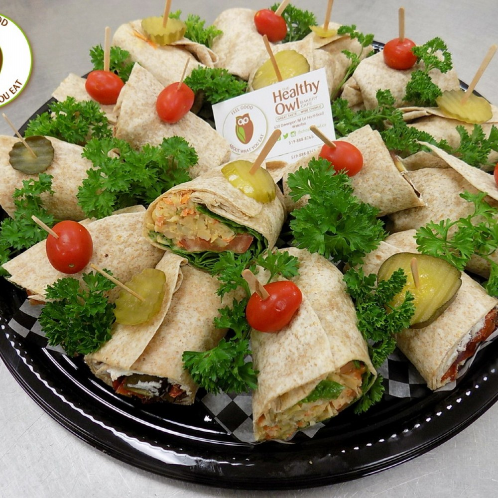 Healthy Owl Luncheon Sandwich Wraps Tray