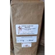 Organic Light Stone Ground Rye Flour 2 kg.