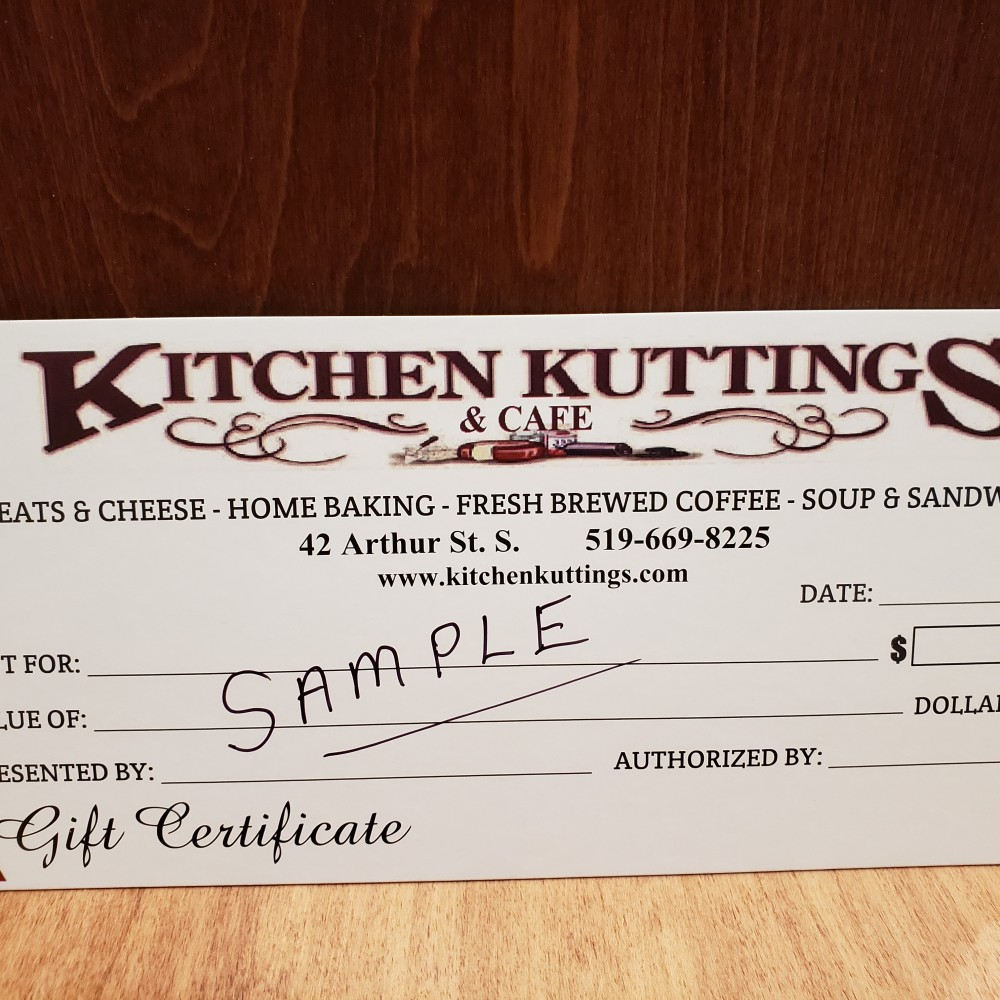 Kitchen Kuttings Gift Certificate