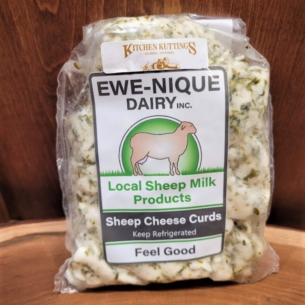 Chive Blend Sheep Cheese Curd 230 g.