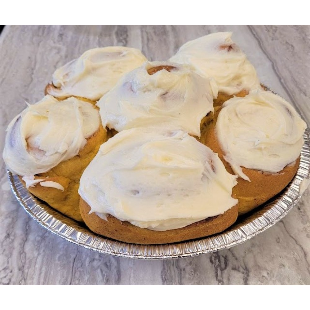 Homemade Cream Cheese Frosted Cinnamon Buns
