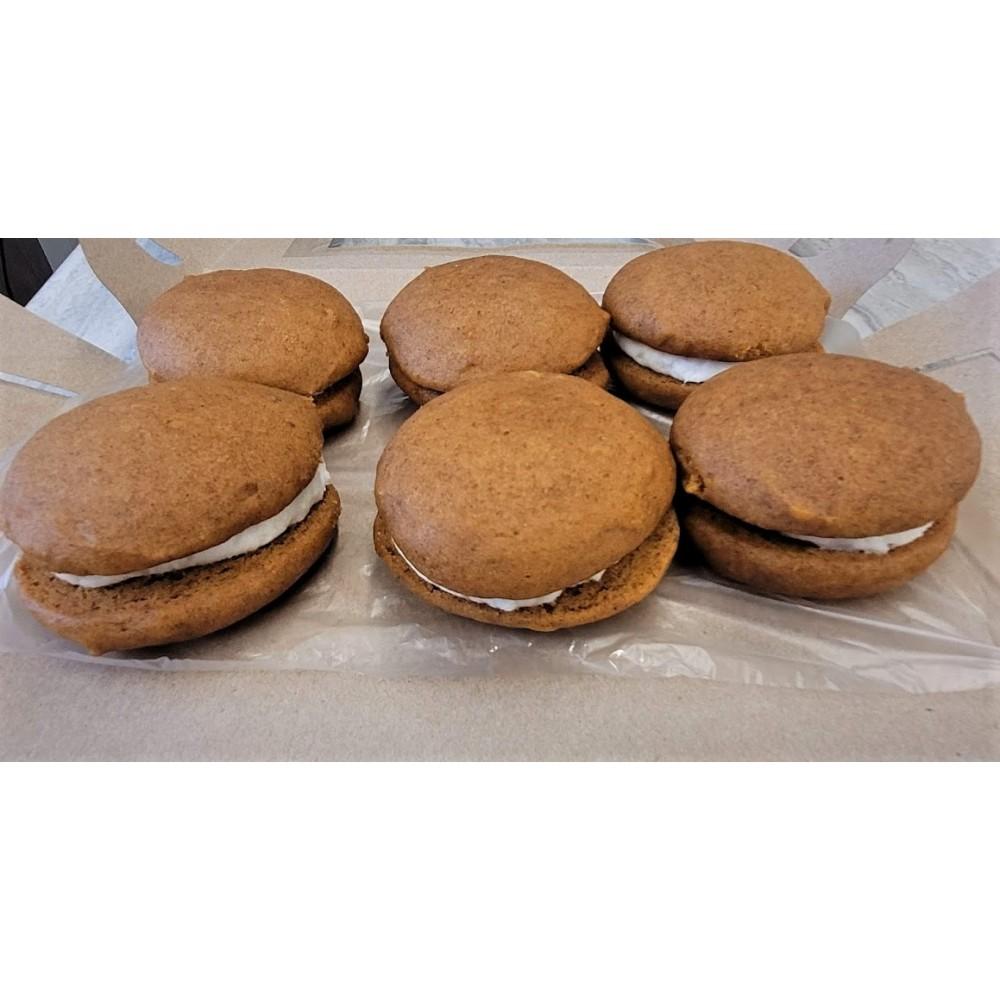 Homemade Pumpkin Whoopie Pies (6 cookies)