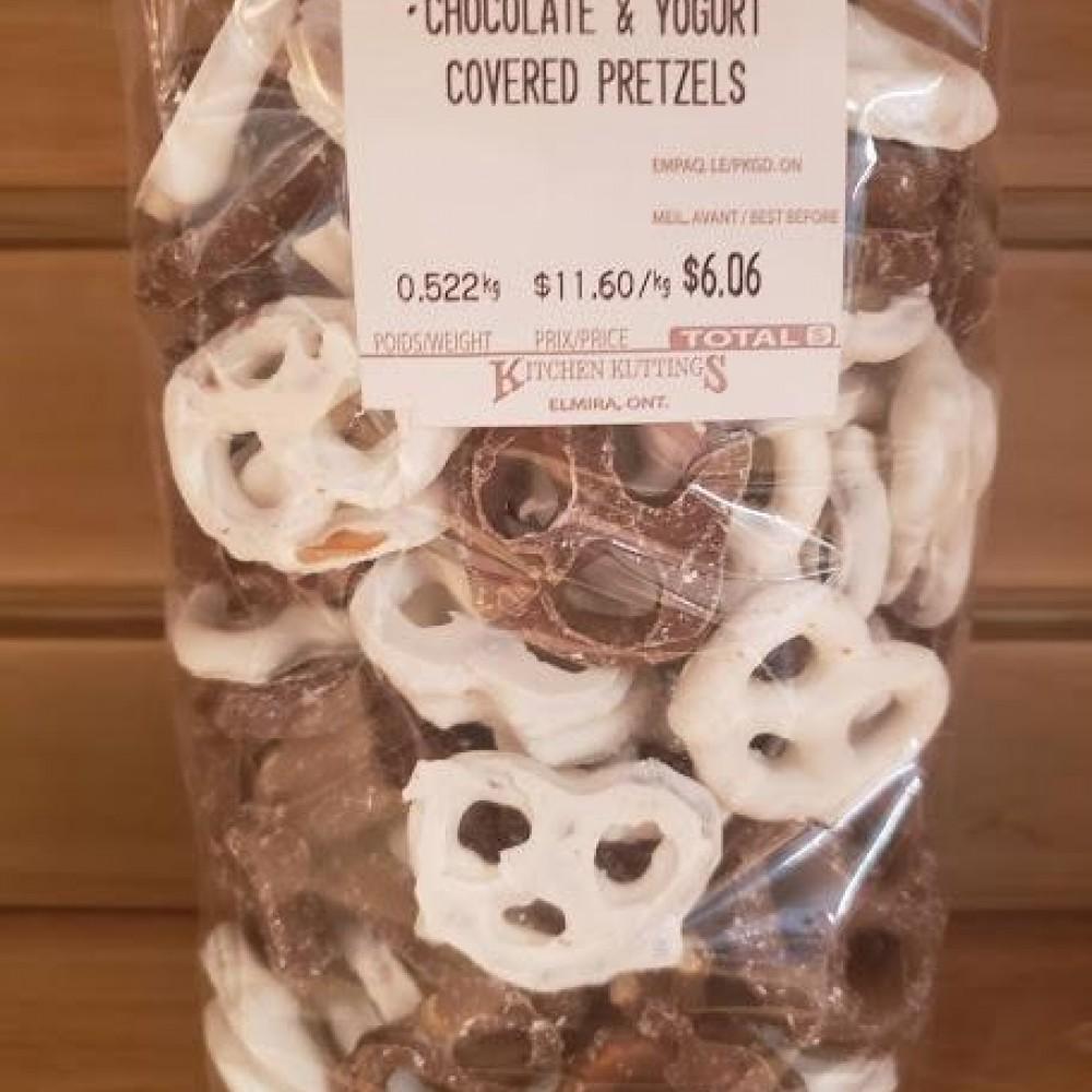 Chocolate and Yogurt Covered Pretzels