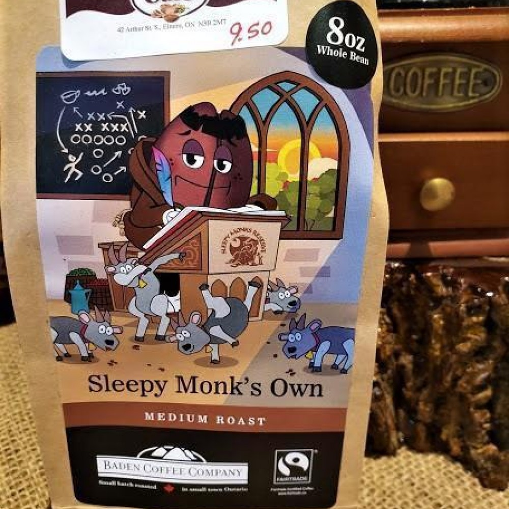 Locally Roasted Sleepy Monk's Own Baden Coffee Beans