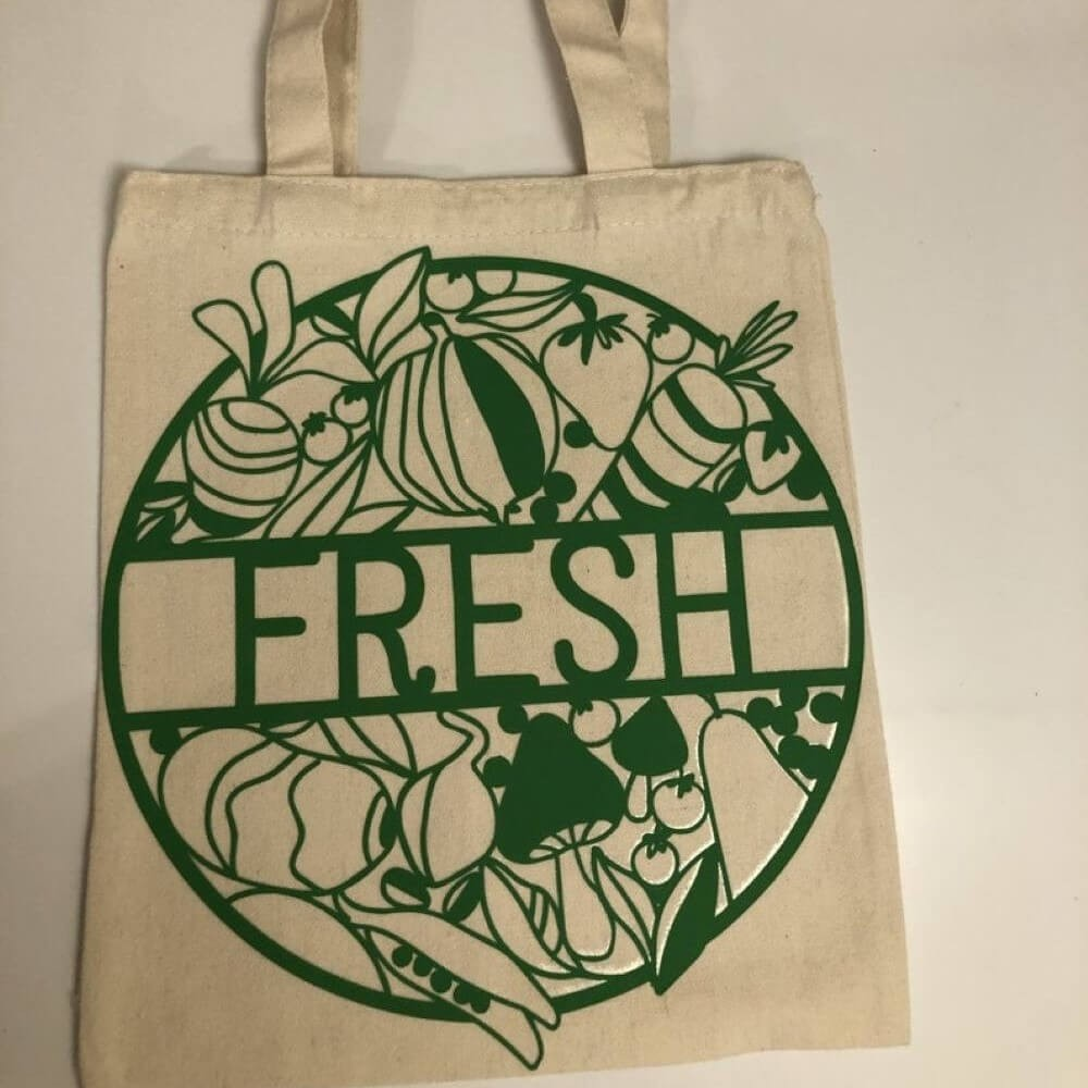 """Fresh"" Farmers Market Reusable Tote Bag"